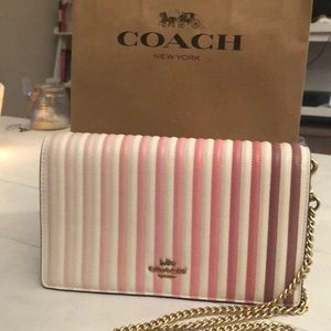 COACH ❤️ Pink Quilted Ombré Shoulder Bag! NEW!